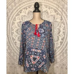 LOVE SAM Boho Peasant Blouse